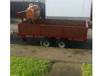 Bradley 10 by 6 4 wheeled trailer
