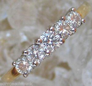 schmuck brillant ring aus gold ring mit diamant ring brillanten brilliant ring ebay. Black Bedroom Furniture Sets. Home Design Ideas