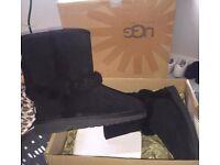 Genuine Ugg Boots. Black. Size 3 junior/ladies. New