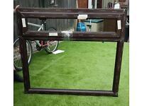 Sash UPVC Window frame dark brown brand new