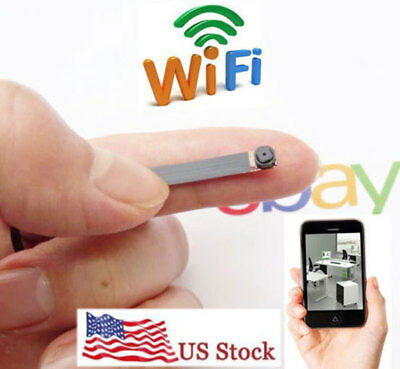 new Wonderful Smallest wireless IP WIFI internet micro esoteric spy Pinhole camera DVR
