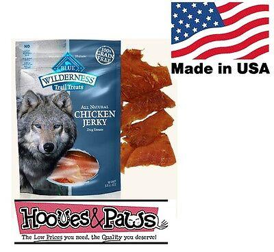 Natural Blue Buffalo Wilderness Healthy Dog Chicken Jerky Grain Free MADE IN (Natural Buffalo Jerky)