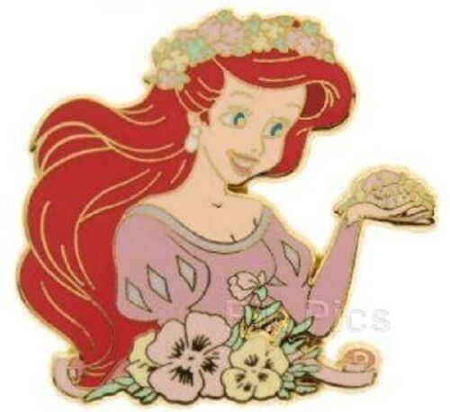 Disney Little Mermaid Princesses with Flowers Ariel pin