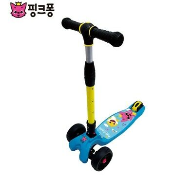 Pinkfong Shark Family Kick Board Scooter Portable Foldable Adjustable Child Kids