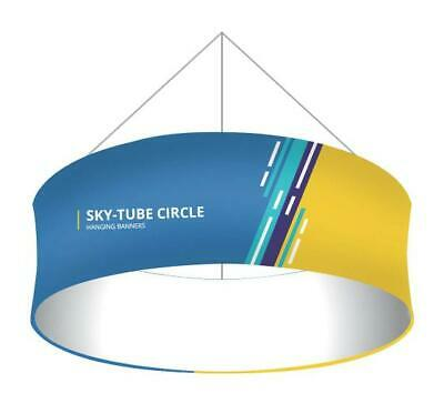 10 X 3 Fabric Circle Hanging Sign Trade Show Ceiling Banner Display