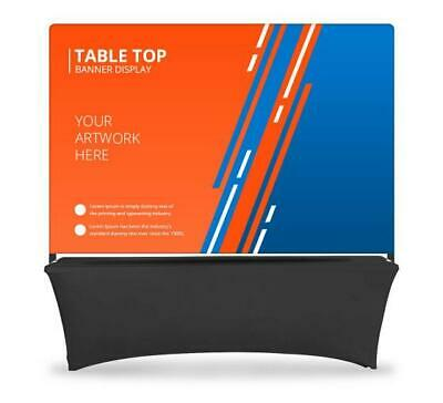 Table Top Banner - Back Wall Display System Table Header Backdrop Banner Stand