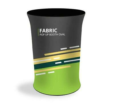 Oval Fabric Pop Up Display Booth Only Graphic