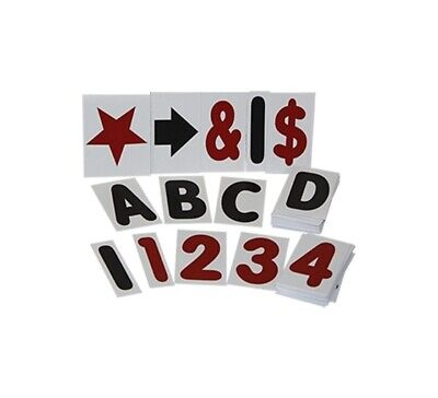 White 4 Changeable Letter Kit For Sidewalk Message Board Sign - 314 Piece