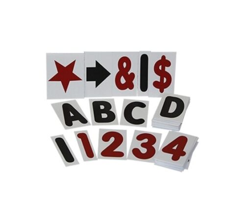 """White 4"""" Changeable Letter Kit for Sidewalk Message Board Sign - 314 Piece"""