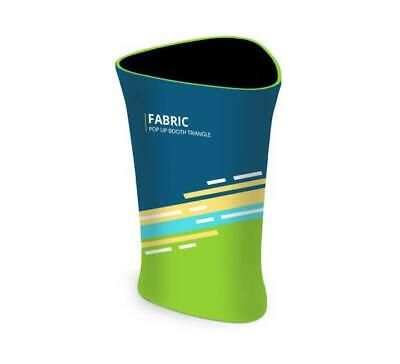 Triangle Fabric Pop Up Display Booth Trade Show Podium Promotional Counter