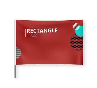 Indoor Outdoor Custom Rectangle Banner Flag Multiple Size No Hardware