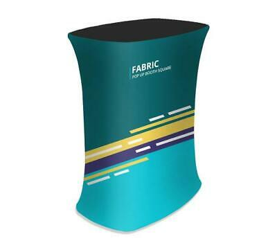 Square Fabric Pop Up Display Booth Trade Show Exhibit Podium Promotional Counter