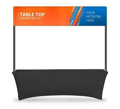 Table Top Banner Display System Header Table Backdrop Banner Stand
