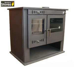 Wood-Burning-Multifuel-Stove-Range-Oven-Cooker-with-Back-Boiler-Hot