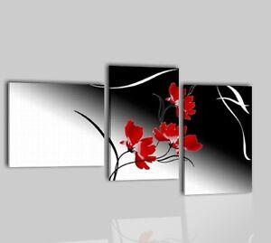 Quadri moderni dipinti a mano olio su tela fiori bianco for Quadri moderni fiori dipinti a mano