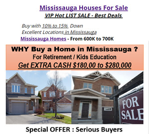 Mississauga Homes - From 600K to 700K