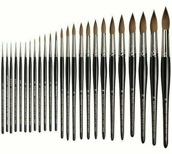 Kolinsky Red Sable da Vinci Brushes da Vinci Series 10 Maestro Paint Brush Size 10//0 Watercolor Round,