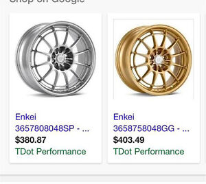 "Enkei NT03 17"" 4X100 offset 40, good for Fit, Yaris....."