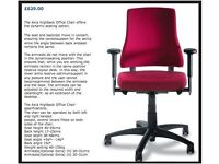 BMA Axia ergonomic office swivel chair, good condition. Red.