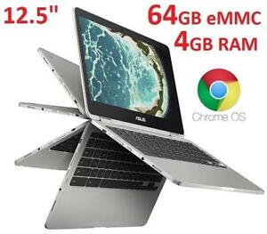 OB ASUS CHROMEBOOK 12.5 TOUCH C302CA-DHM4 180994585 INTEL M3 4GB RAM 64GB CHROME OS LAPTOP NOTEBOOK COMPUTER PC OPEN BOX