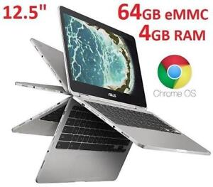 NEW ASUS CHROMEBOOK 12.5 TOUCH C302CA-DHM4 182277592 INTEL M3 4GB RAM 64GB CHROME OS LAPTOP NOTEBOOK COMPUTER PC