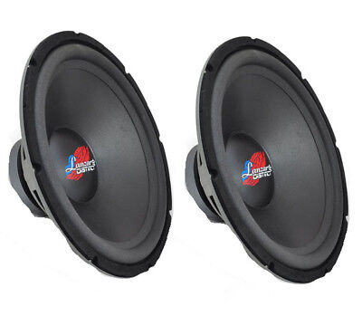 Pair of Lanzar DCTOA18D 18 Inch 30-1.8kHz High Power 4 Ohm DVC Subwoofer