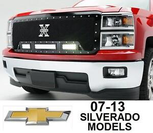 NEW* 07-13 SILVERADO LED LIGHT BAR GRILL LIGHT BAR T-Rex Torch Series Grille with LED Light - 1 PC GRILLE - TRUCKS