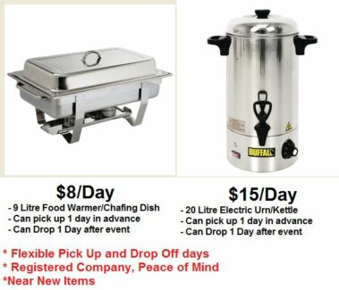 Adi Rentals - Chafing Dish/Food Warmer, Urn (Kettle Parramatta Area Preview