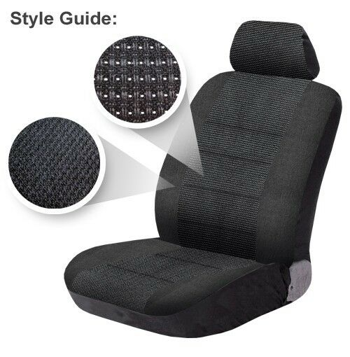 TOYOTA ESTIMA  FULL LEATHER LOOK CAR SEAT COVER SET BLACK