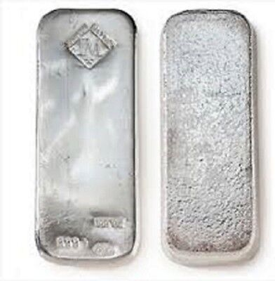 Johnson Mathey 100Oz Silver Bar  Jm00
