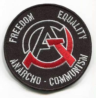Patch Anarcho Communism, Freedom Equality, 7,5cm