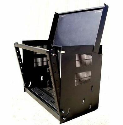"Wall Mount Drop Front 19"" Network IT Data Cabinet Rack 12"" Deep - 8U - Black for sale  USA"