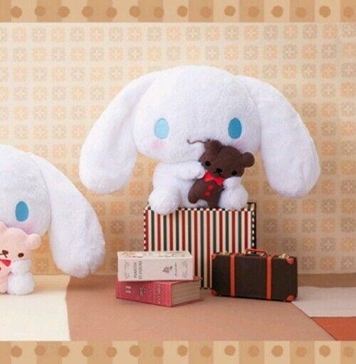 New FuRyu Sanrio Cinnamoroll with Brown Stuffed Plush Doll Soft Big Plush 30cm
