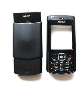 Black-NEW-Cover-Housing-Fascia-Case-Nokia-N70-Keypad-T6