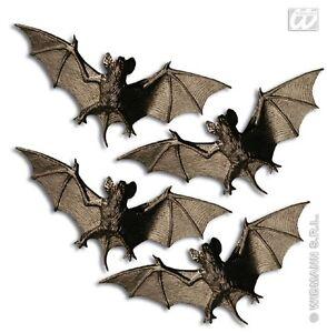 4x Fledermaus ca.10 cm Vampir Gruseltierchen Deko Halloween Fledermäuse 4 Stück