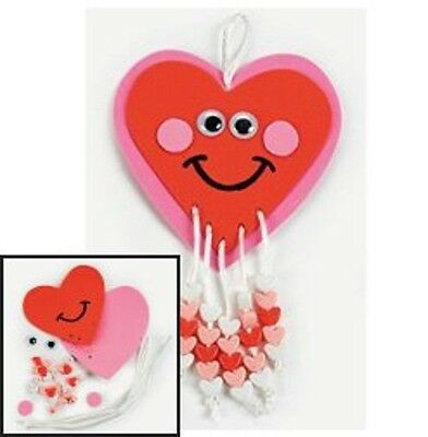 Happy Heart Beaded Valentine Craft Kit 4 Kids
