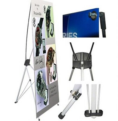 X Banner Stand 24 X 63 W Free Bag  Trade Show Display Pop Up Advertising