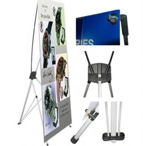 """X Banner Stand 24"""" x 63"""" w/ Free Bag ,  Trade Show Display Pop Up Advertising"""