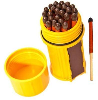 Uco Stormproof Match Container Yellow Gold Waterproof Windproof 25 Matches Case
