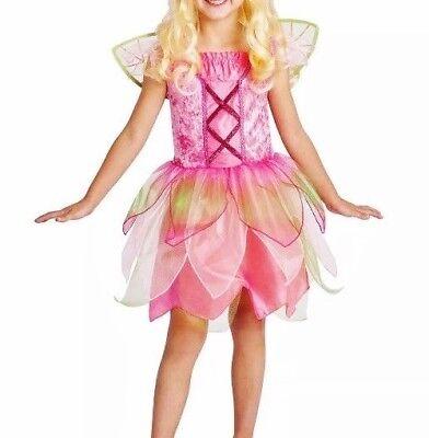 Garden Fairy Tinker Bell Dress Wings Girl's Child Halloween Costume S Small 4-6