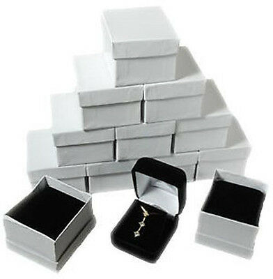 12 Piece Black Velvet Necklace Earrings Jewelry Gift Boxes 1 78 X 2 18