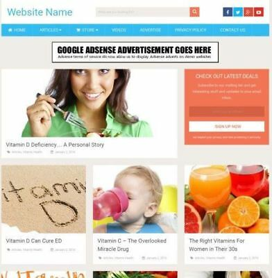 Vitamins Store - Work From Home Online Business Website For Sale Domain Host