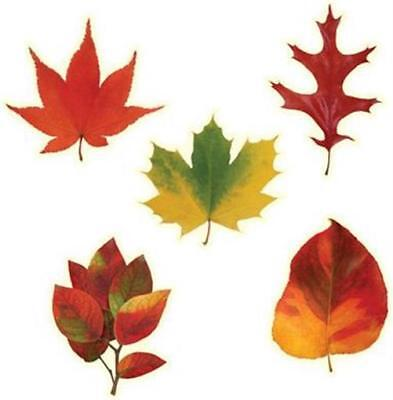 Mini Leaf Cutouts 10 Pack Fall Autumn Thanksgiving Party Decorations - Leaf Cutouts
