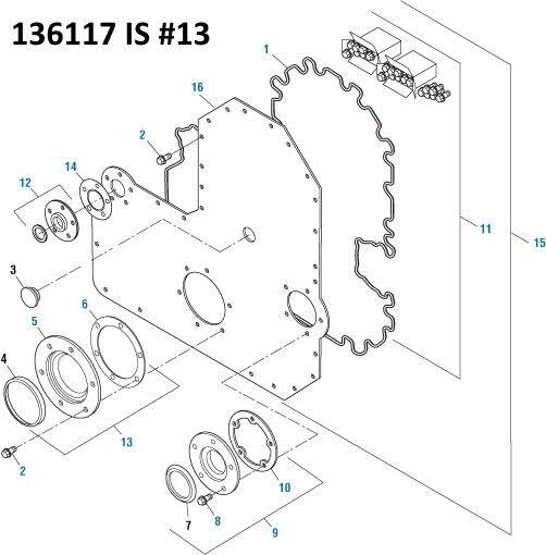 Front Crank Seal Kit for Cummins L10 M11 ISM. PAI # 136117