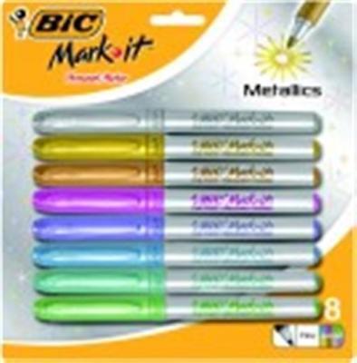 Bic Mark-it Metallic Permanent Marker Set Fine Tip Set - 8