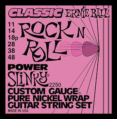- Ernie Ball 2250 Pure Nickel Wrap Power Slinky Electric Guitar Strings 11-48
