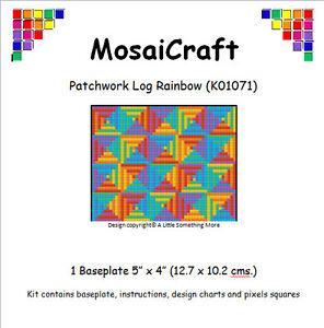 MosaiCraft-Pixel-Arte-Kit-039-Patchwork-Ciocco-Arcobaleno-039-Pixelhobby