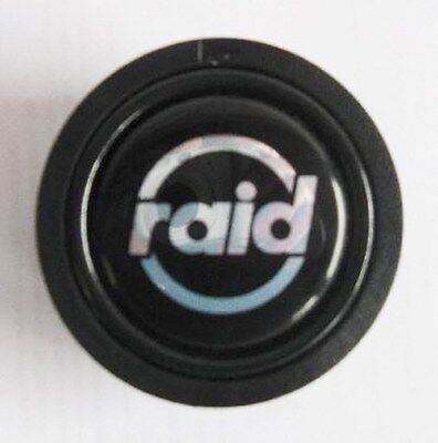 Raid Hupenknopf versenkt mit RAID Logo für Sportlenkrad Sport Lenkrad Hupe Knopf