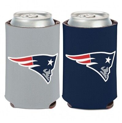 NEW ENGLAND PATRIOTS 2 SIDED CAN COOLER/KOOZIE NEW AND OFFICIALLY LICENSED
