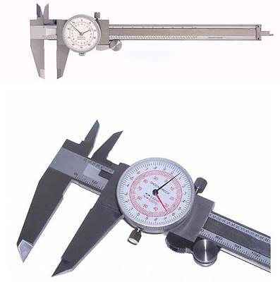 2pc Brand New 6 150mm Inch Metric Dual Scale Dial Calipers